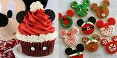 Santa hat cupcakes and Christmas cookies- CosmopolitanUK