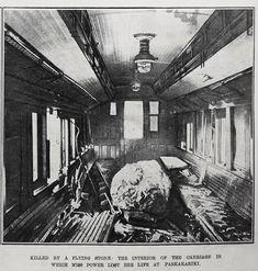 Boulder Crashes into running train at PAEKAKARIKI, 20 Feb 1911. Young woman killed .. OWR 15 May 2015
