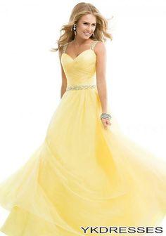 Stunning! Yellow Formal Dress