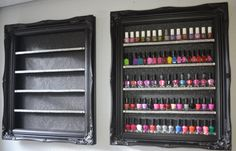 Check out these nail polish racks made of black baroque range with Diamante crystals... would they make wonderful storage and organizational displays for your crystals and gemstones? A classy way to showcase crystals among your home decor. Affiliate link: http://tidd.ly/ce2baa26