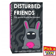 Do you want to find out just how weird your friends are? Then you need Disturbed Friends, the party card game that should be banned! With 350 cards! Party Card Games, Adult Party Games, Christmas Gifts For Women, Christmas Gift Guide, 70s Sitcoms, Gift Guide For Him, Player Card, Your Turn, Game Design