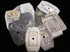 Vintage Antique Victorian Watch Dials by amystevensoriginals