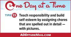 Learn how to inspire better ADHD behavior through chores!