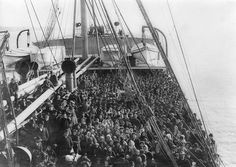 130 years of Irish life in 40 photos - WorldIrish  Irish emigrants Ellis Island bound aboard the Atlantic Liner