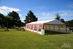 20 x 40 Red and White Frame Tent - Big Top Tents
