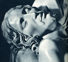 The face of Christ, from Michelangelo's Pieta.