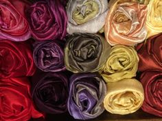an assortment of our Thai silk scarves and shawls-