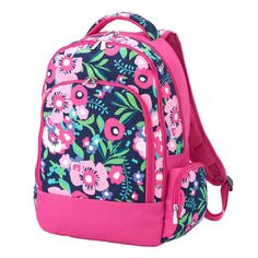 e9dbb567b8b2 Posie Floral School Backpack - Available Monogrammed