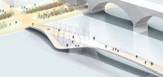 Drava Bridge's unique design offers waterside recreational space | Designbuzz : Design ideas and concepts