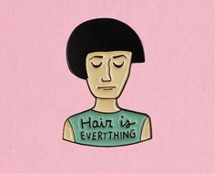 Hair is everything Fleabag enamel lapel pin Find My Passion, Socks And Sandals, Dog Pin, Got 1, Lapel Pins, Art Inspo, Everything, Handmade Items, Patches