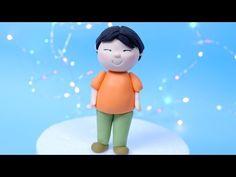 Simple Fondant Girl Cake Topper TUTORIAL! How to make a fondant girl / Cake decorating for beginners - YouTube