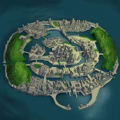 City Of Atlantis Map