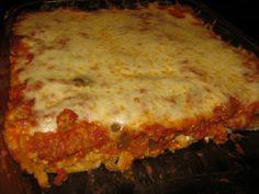 Cheesy Turkey Spaghetti Cake
