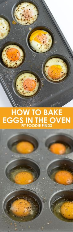 Learn how to bake the perfect eggs in your oven for a quick and easy breakfast recipe with this kitchen hack.