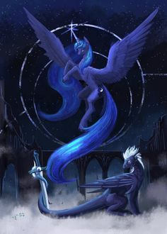 my little pony, princess luna, gothic art Princesa Celestia, Celestia And Luna, My Little Pony Comic, My Little Pony Pictures, My Little Pony Princess, Mythical Creatures Art, Little Poni, Unicorn Pictures, Nightmare Moon