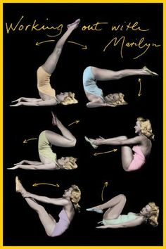 Working out with Marilyn Monroe- Aerobics- Fitness- Gymnastics- Vintage style Poster Measures 36 x 24 inches (91.5 x 61 cm) approx: Amazon.co.uk: Kitchen & Home