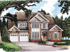 Ambient Two-Story Home (HWBDO08519) | New American House Plan from BuilderHousePlans.com