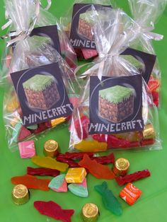 Minecraft TNT Party Favors | Minecraft Party Table