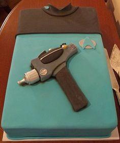 Cake Wrecks - Home - Sunday Sweets: Star Treck uniform and phasor cake