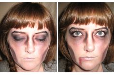 Easy zombie make up tutorial for Halloween Craftster.org