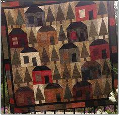 Primitive Folk Art Quilt Pattern  In the Woods by FiddlestixDesign, $7.95
