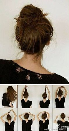 Best with wet hair. Easy everyday hairstyle when your hair is wet and you dont have time to blow dry it!