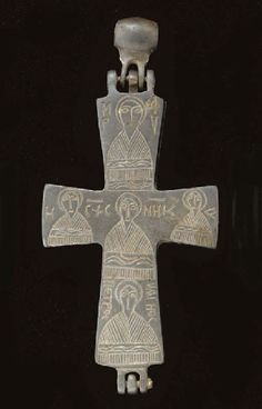 A BYZANTINE SILVER RELIQUARY CROSS CIRCA 9TH-12TH CENTURY A.D.