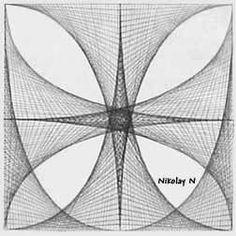 Parabolic Line Design Parabolic line designs...