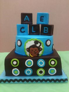 Yet another monkey baby shower cake