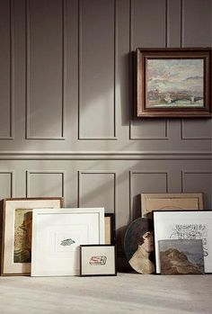 New Farrow & Ball Colors 2020 Inspired By Nature - Benjamin Moore Kingsport Gray – looks like F & B Broccoli Brown - Living Room Panelling, Taupe Walls, Craftsman Interior, Art Deco Interior, Urban Interiors, Modern Interior, Interior Deco, Wall Panels, Home Decor