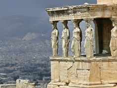 Greece, Athens -The Parthenon   Felt like walking thru a history book in the bright, hot sun.  And what a view!