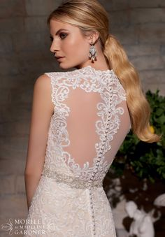 Bridal Gowns / Dresses Style 2719: Majestic Embroidery Design on Net Trimmed with Diamante Beading http://www.morilee.com/bridals/bridal/2719