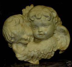 "11"" Eros Cupid Wall Sculpture Twin Cherub sconce Angel"