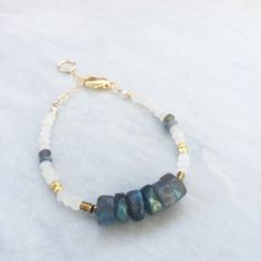 Browse unique items from GypsetCo on Etsy, a global marketplace of handmade, vintage and creative goods. Raw Gemstone Jewelry, Labradorite Jewelry, Gemstone Bracelets, Love Bracelets, Jewelry Art, Beaded Jewelry, Beaded Necklace, Diy Jewellery Designs, Jewelry Design