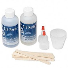 Jeweler's grade resin, ICE Resin® 2-part formula, crystal clear. Sold per pkg of (2) 4-ounce bottles.