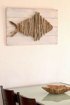 Create this beautiful driftwood art.