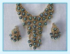 Diva Vintage Necklace Bib & Earrings Set by FineThingsShop on Etsy