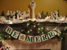 Christmas Decoration BE MERRY Christmas by anyoccasionbanners