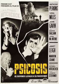 Pricing Guide of Horror Film Posters. Sold through Direct Sale: psicosis alfred hitchcock poster original estreno. Horror Movie Posters, Film Posters, Horror Movies, Norman Bates, Janet Leigh, Classic Movie Posters, Classic Movies, Entertainment Weekly, Cultura Nerd
