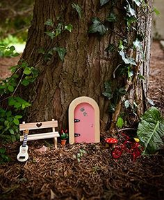 Amazon.com: Magical Irish Fairy Door. Irish Fairy Door Company, Pink Round Door. Handcrafted and Decorated in Ireland. Unlock a World of Imagination.: Toys & Games