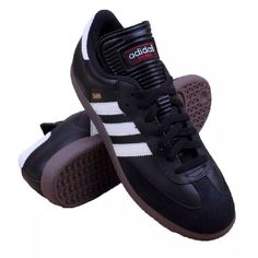 best sneakers 4a450 aebf5 Core Black   Core Black   Running White Slightly more athletic than it s  Originals brother—with an extended tongue geared for indoor play, the Samba®  ...