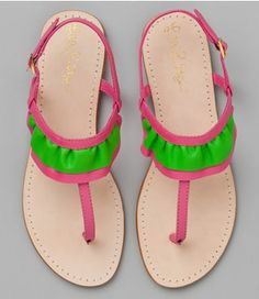 Lilly Pulitzer Paige Sandal...  Pink and Green #pink #green #pink_and_green