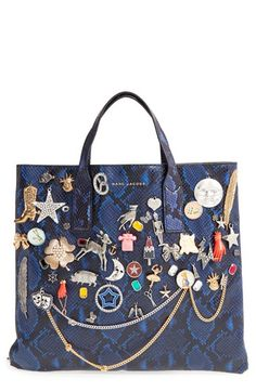 cd3e322732d8 MARC JACOBS  Mini Wingman  Embellished Leather Shopping Tote available at   Nordstrom Marc Jacobs