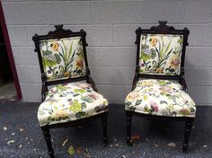 Antique pair of eastlake chairs