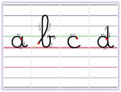 Réglettes d'écriture - méthode Dumont Cursive Letters, Letter Formation, Alphabet Worksheets, Pre Writing, Kids Learning Activities, Help Teaching, Home Schooling, Pen And Paper, Kids Education