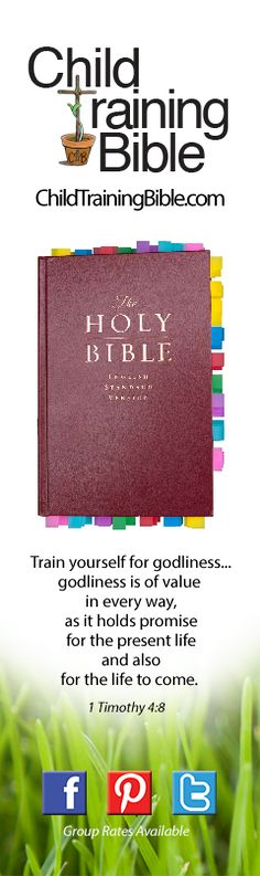 children's training bible... verses to go to when you need to help them learn