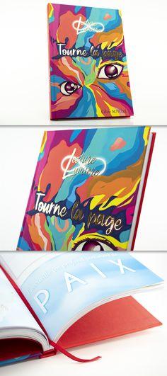 Livre contrecollé en 16,8x24cm / Couverture quadri pelliculée Velours avec Vernis Sélectif et Dorure Or Brillant / Garde et Tranche-fil assortis #copymédia #livre #contrecollage Collage, Candy, Food, Foil Stamping, Impressionism, Velvet, Products, Collages, Essen
