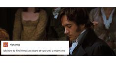 Stare all you want Mr. Darcy...
