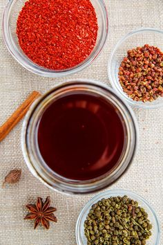 Sichuan Chili Oil Recipe : Spicy and aromatic chili oil with mouth numbing sichuan peppercorns that is a great way to add some chili heat to any dish! Chinese Chili Oil, Sichuan Pepper, Best Chinese Food, Fish And Meat, Asian Recipes, Chinese Recipes, Homemade Seasonings, Asian Cooking, Different Recipes