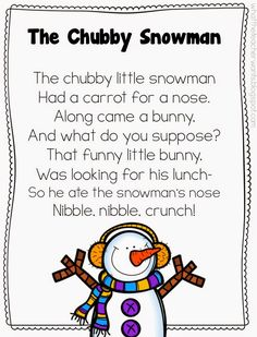 """Shared Reading of Poem, """"A Chubby Snowman"""" & Writing Response (from What the Teacher Wants)"""